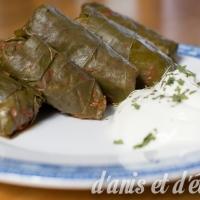 Cypriot vegetarian stuffed vine leaves (κουπέπια νηστίσιμα)